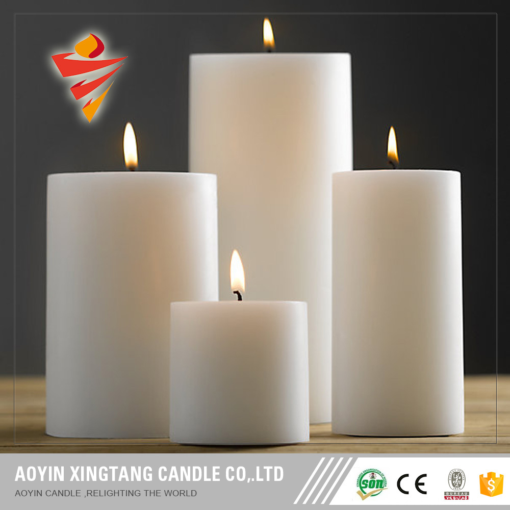Large household candles smokeless pillar candles cheap