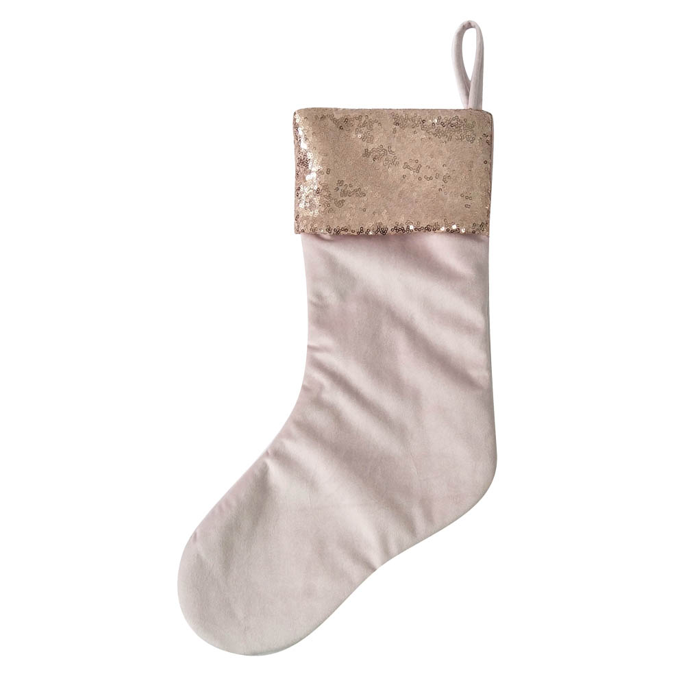 Pink Sequin Christmas Stocking