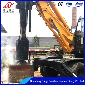 Wheeled 20M depth mini pile driver for construction
