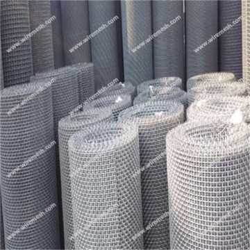 Crimped square woven wire mesh
