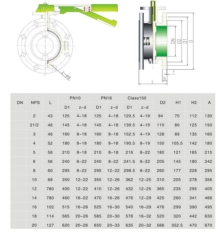 High Butterfly Valve Specification