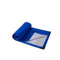 Water proof blue orange two sides different colors PE tarp