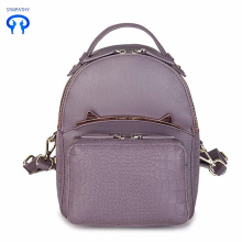 The new women's bag crocodile leather travel backpack