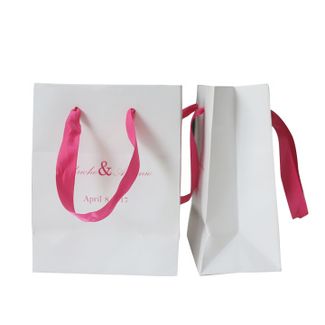 Dyed paper packaging bag for shopping bag