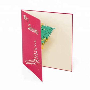 Merry Christmas Gift Card 3D Custom Greeting Cards