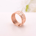 Rose Gold Stainless Steel Band Ring For Her