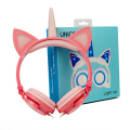 Cute Unicorn Cat Ears lighting Headphones Kids Headphones