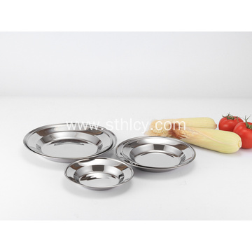 Quality 201 Stainless Steel Plates Kitchenware