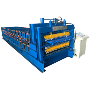 Color steel three layer corrugated glazed forming machine
