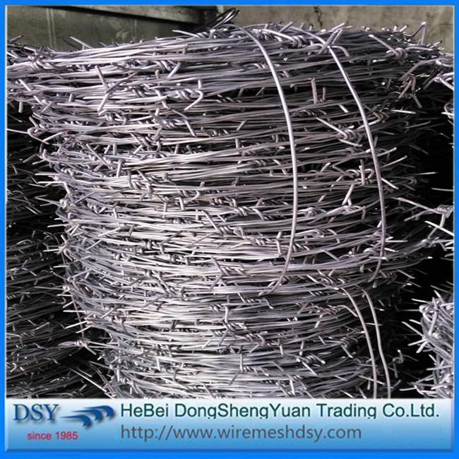 hot dipped galvanized barbed wire CBT-65