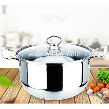 Multi-purpose Two Handles Stainless Steel Soup Pot