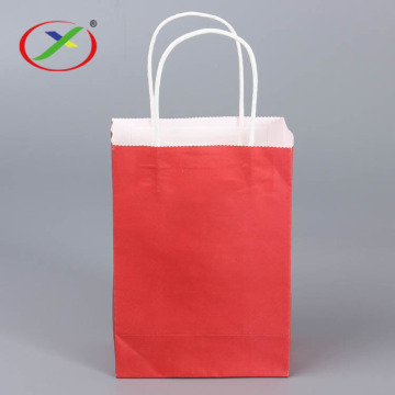 white Kraft paper sos paper bag
