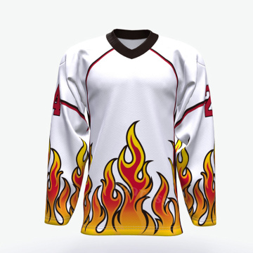 ice hockey jersey any logo sublimated golden custom hockey jersey