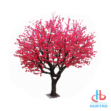 Silk Flower Artificial Peach Blossom Tree