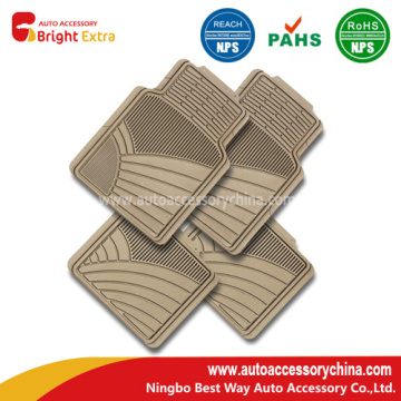 Odorless PVC Car Floor Mats - Tan