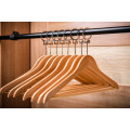 Luxury Wooden Hotel Clothes Anti-theft Hanger