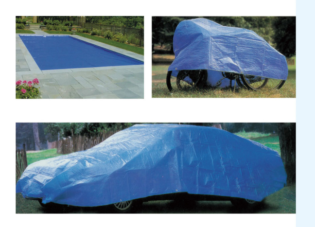 Blue tarp multi application