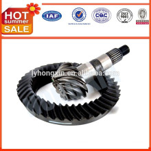 Truck rear differential bevel pinion gear crown wheel