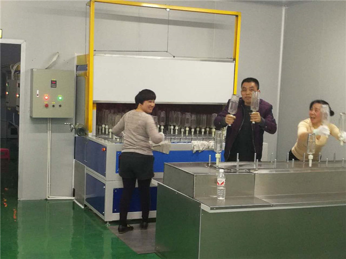 Automatic Spray Painting Line For Glass Bottle