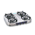 4 Burner Stainless Steel Gas Stove Auto Ignition