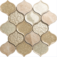 golden foil background porcelain mosaic