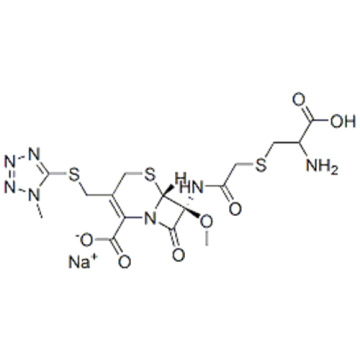 5-Thia-1-azabicyclo[4.2.0]oct-2-ene-2-carboxylicacid,7-[[2-[[(2S)-2-amino-2-carboxyethyl]thio]acetyl]amino]-7-methoxy-3-[[(1-methyl-1H-tetrazol-5-yl)thio]methyl]-8-oxo-,sodium salt (1:1),( 57355450, 57261740,6R,7S)- CAS 75498-96-3