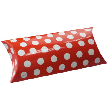 Small Size White Spots Pillow Paper Box