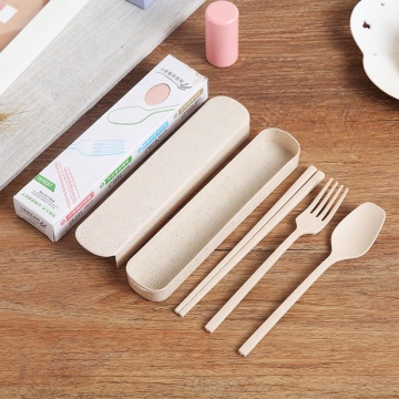 Eco-Friendly Travel Wheat Straw Cutlery Set