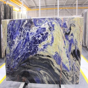Big blue sodalite slab