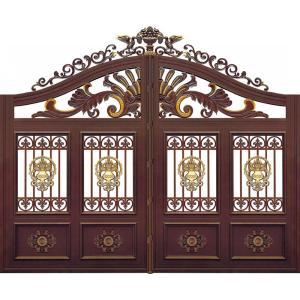 Upscale Golden flower Aluminum Gate