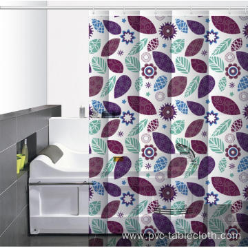 Waterproof Bathroom printed Shower Curtain W Pockets