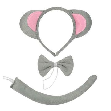 Cat Tail Ears Set Collar Paws Gloves