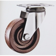Medium duty stainless bracket high temperature casters