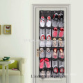 Household oxford fabric over the door hanging men shoe organizer with 24 mesh pockets