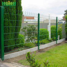 Welded Double Horizontal Wire Arched Prestige Mesh Fence