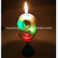 8 candles rainbow rotating musical birthday candles