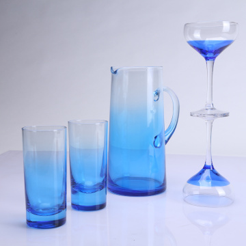 Blue Color Drinking Glass Set