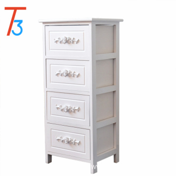 Bedroom with white wooden bedside table fashion drawer