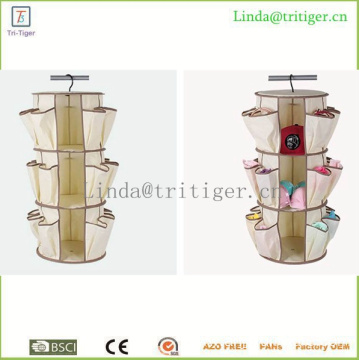 3 Tier 360 Degree Carousel Organizer Spinning Closet
