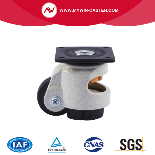 Plate Aluminum Alloy PA Auto Adjustable Caster