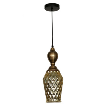 Modern Single Glass Industrial Vintage Pendant Light