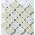 Glass and ceramic mosaic with white color