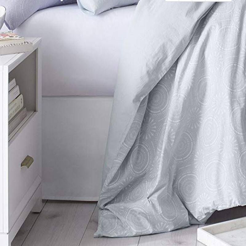 Organic Cotton Percale Printed Duvet Cover