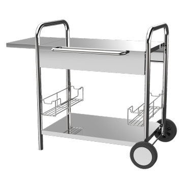 Stainless Steel Plancha Trolley