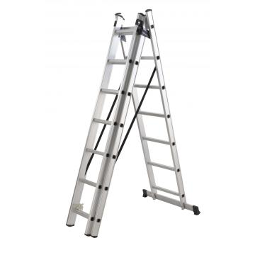 Aluminum 3 section extension ladder