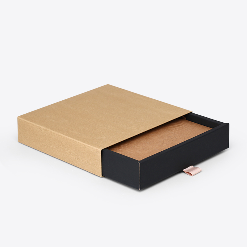 Black Cardboard Paper Drawer Box for Wholesale
