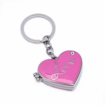 Free Design Custom Heart Shape Metal Love Wholesale Keychain