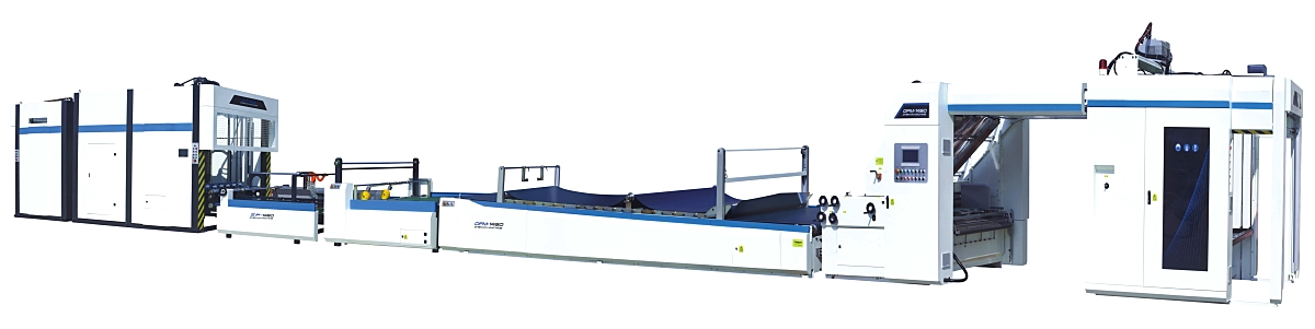 Automatic flute laminating machine with pile turner 1200