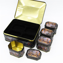 OEM for Biscuit Tin Box High-end customized moon cake tin box set supply to Poland Exporter