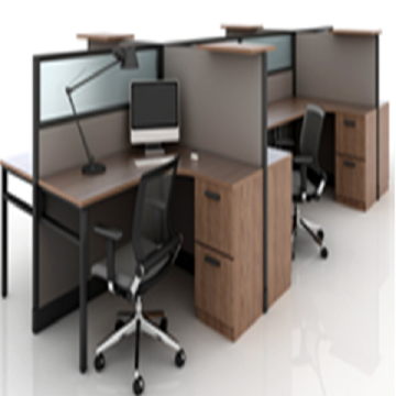 4 Seat Executive Desk Office Furniture Workstation